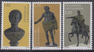 ** Lichtenštejnsko Mi.1954-56 Umění, antické sochy