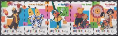 Austrálie ** Mi.1814-18 Postavy z televizních pohádek