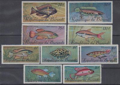 Burundi ** Mi.359-367 Ryby