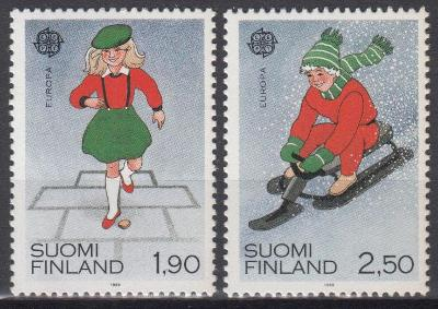 Finsko ** Mi.1082-83 Europa, CEPT, dětské hry