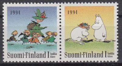 Finsko ** Mi.1240-41 Muminci