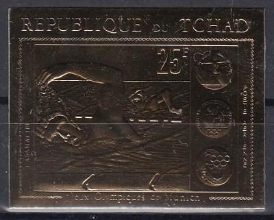 Čad ** Mi.416 B  Olympiáda (katalog 36 Mi€ !!!)