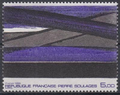Francie ** Mi.2585 Obrazy, Pierre Saulages