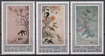 Korea (LDR) ** Mi.1802-04 Obrazy, zvířata (Mi€ 10)