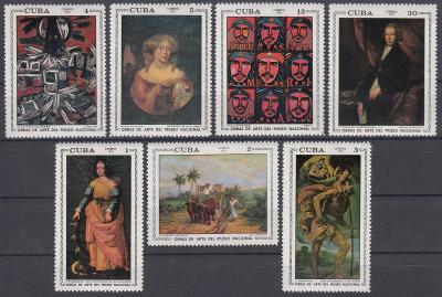 Kuba ** Mi.1714-20 Obrazy, Národní muzeum umění