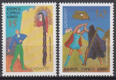 Kypr ** Mi.897-898 Báje a pověsti