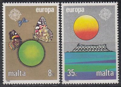 Malta ** Mi.746-747 Europa, ochrana přírody