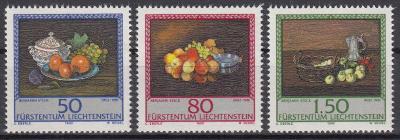Lichtenštejnsko ** Mi.990-992 Obrazy, ovoce