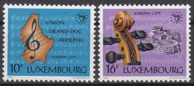 Lucembursko ** Mi.1125-26 Evropský rok hudby
