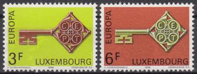 Lucembursko ** Mi.771-772 Europa, CEPT