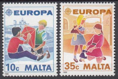Malta ** Mi.816-817 Europa, CEPT, dětské hry
