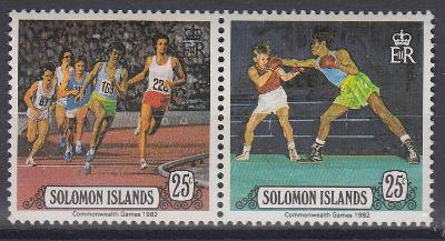 Šalamounovy ostrovy ** Mi.471-472 Atletika, box