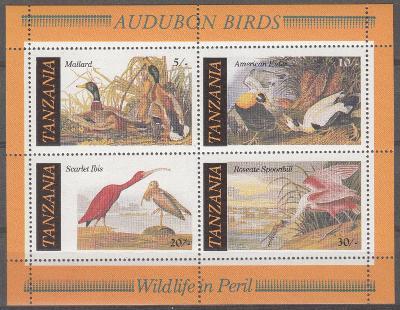 Tanzánie ** Mi.Bl.55 Ptáci
