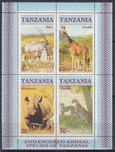 Tanzánie ** Mi.Bl.58 Afričtí savci
