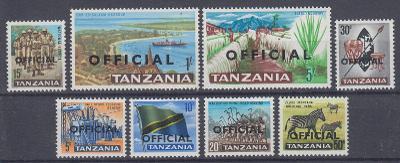 Tanzánie ** Mi.D9-D16 Služební (Mi€ 6,5)