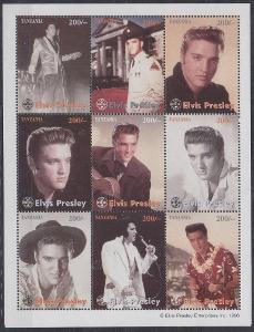 Tanzánie ** Mi.Kl.2330-38 Elvis Presley