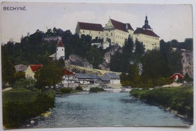 Bechyně - 1919 - kolorovaný pohled