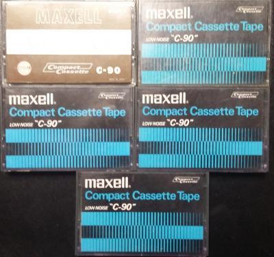 5x staré audiokazety typ I - MAXELL C-90