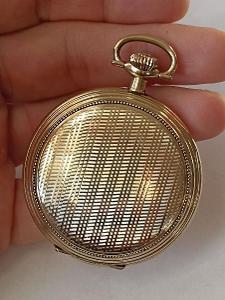 LA BIRSE tříplášťové krásné silně zlacené pánské kapesní hodinky