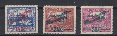 ČSR1 Airmail, 1920, Mi192B-194B 13 3/4 (*) 1050€