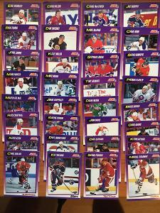 Hokejové kartičky Score 1991-92 LOT 32ks