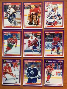 Hokejové kartičky Score 1991-92 Top Prospect LOT 9ks