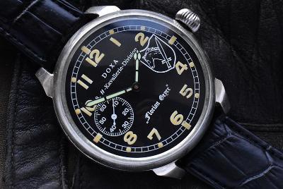 """Vojenske hodinky sign.: DOXA 8. SS-Kavallerie-Division """"Florian Geyer"""""""