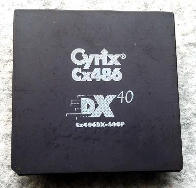 PC MUZEUM - starý procesor Cyrix Cx486 DX40 pro sběratele