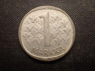 Finsko 1 marka 1966  Ag ( bilon)
