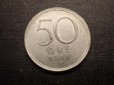 Švédsko 50 Ore 1946, Ag