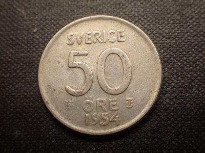Švédsko 50 Ore 1954, Ag