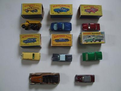matchbox autíčka s krabičkami
