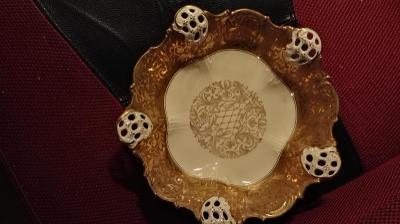 Mísa Rosenthal Moliere gold - top stav - průměr 23 cm.