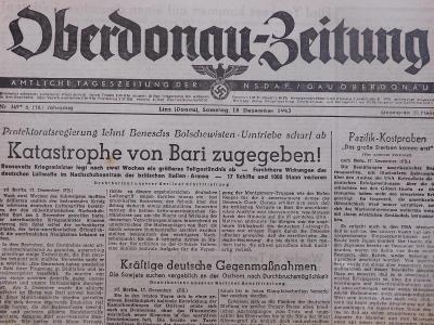 Oberdonau-Zeitung. Origo dobové válečné noviny. 18.12.1943. B2608