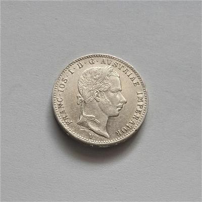 1/4 zlatník 1860 V - vzácný ,velmi pěkný