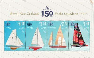 Nový Zéland 2021 Známky aršík ** sport Plachtění loď jachta