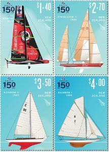 Nový Zéland 2021 Známky ** sport Plachtění loď jachta