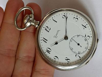 ZENITH staré pánské stříbrné krásné gilošované hodinky