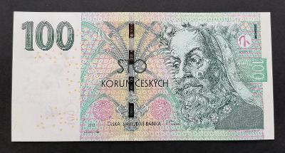 ČESKÁ REPUBLIKA -100 korun,2018- velmi nízké kontrolní číslo - 000012