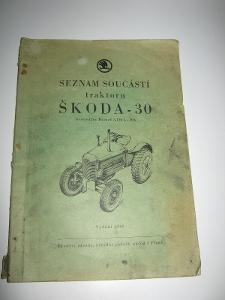 Seznam součástí traktoru Škoda 30
