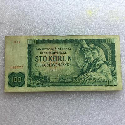 100 KORUN 1961 NEP SER R 16.