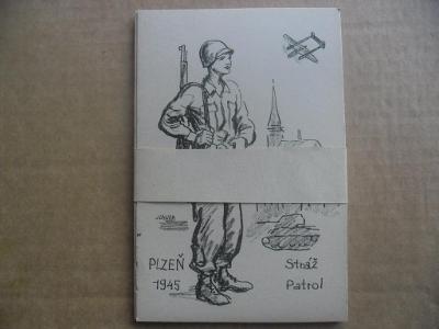 Plzeň osvobození 1945 10 kusů pohlednic