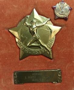 Rarita! Mistr ČSR  Spartak HK.1.liga 1959/60.Medaile pro hráče!