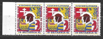 J990 E Propagační nálepky polní pošty v Anglii