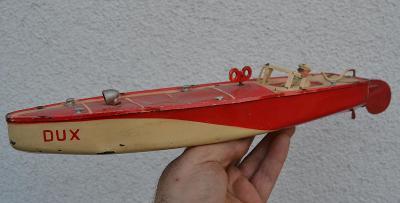Velký plechový člun na klíček   DUX