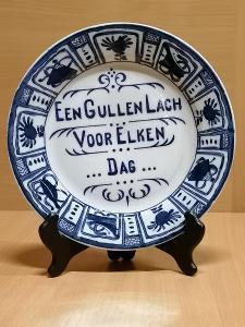 Starožitný porcelánový závěsný talíř