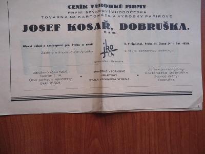 JOSEF  KOSAŘ , DOBRUŠKA.....Kartonážka