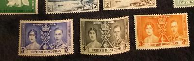 britský Honduras 1937 ** George Vi korunovácia komplet
