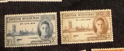 britský Honduras 1946 ** Víťazstvo George Vi komplet mi. 124-125