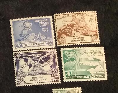 britský Honduras 1949 ** upu komplet mi. 134-137